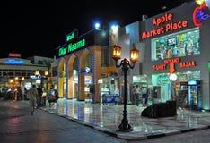 Naama bay shopping night Stock Photography