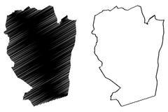 Naama Province Provinces de Argelia, rep?blica Democratic de la gente del ejemplo del vector del mapa de Argelia, mapa de Naama d