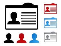 Naamplaatje voor identiteitskaart - mens, gebruiker, lid Stock Foto's