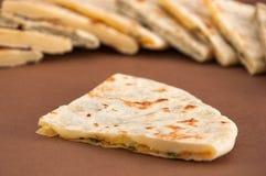 naan不同的印地安的面包的混合- 图库摄影