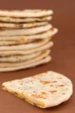 naan印地安的面包- 免版税库存图片