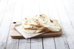 Naan, alimento indiano Fotografie Stock