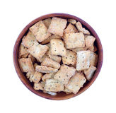 Naan Baked Bread Crackers Top View Royalty Free Stock Photo