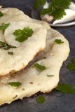 Naan Bread with Coriander and Garlic Stock Images