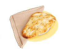Naan bread on plate Stock Photos