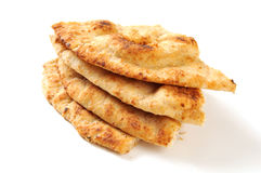 Naan bread wedges Stock Photography