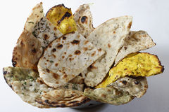 Naan Platter - Indian flat breads. Royalty Free Stock Photos