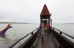 Naantali, Finland - 07 July 2015: Bath House in Moominworld Royalty Free Stock Images