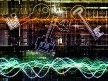 Naar Digitale Encryptie royalty-vrije illustratie