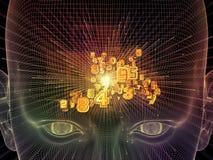 Naar Digitale Gedachte Stock Foto