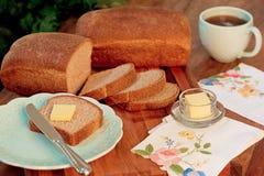 Naar huis Gebakken Brood en Boter Royalty-vrije Stock Afbeeldingen