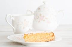 Naar huis gebakken honingscake Stock Foto's