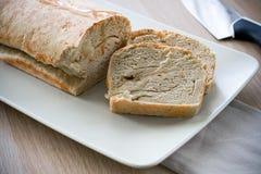 Naar huis gemaakt brood Stock Foto's
