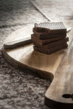 Naar huis gemaakte chocoladerepen Stock Afbeelding