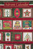 Naar huis gemaakte Kerstmis Advent Calendar Royalty-vrije Stock Foto