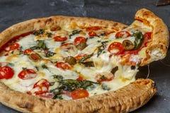 Naar huis gemaakte pizzaplak Royalty-vrije Stock Afbeelding