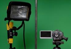 Naar huis gemaakte videostudio Royalty-vrije Stock Afbeeldingen