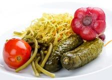 Naar huis gemarineerde groenten royalty-vrije stock afbeelding