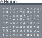 Naar huis verwante pictogramreeks stock illustratie
