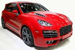 Naar maat gemaakte rode SUV Royalty-vrije Stock Foto