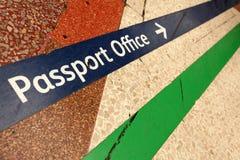 Naar paspoortbureau Stock Afbeelding