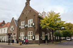 Naarden. NETHERLANDS - APRIL 30: Typical Dutch architecture on April 30, 2013 in , The Netherlands Stock Photos