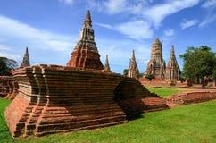 Naast van chaiwattanaram tempel Wat Stock Afbeelding
