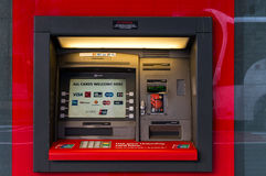 NAB ATM on Castlereagh street, Sydney, Australia Royalty Free Stock Image