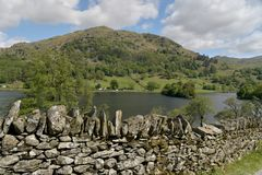 Nab Scar above Rydalwater Stock Images