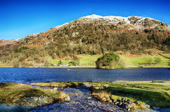 Nab Scar and Rydal Water on a sunny day Stock Photo