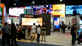 NAB Show 2016 exhibition in Las Vegas, USA, stock video footage