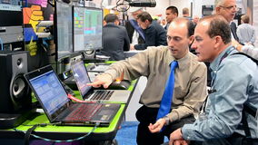 NAB Show 2016 exhibition in Las Vegas, USA, stock video