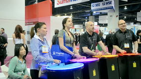 NAB Show 2014 exhibition in Las Vegas, USA, Royalty Free Stock Photos