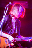 Nabaclab, Riga, Latvia, September 3, 2015, TRIS performing on st Stock Image