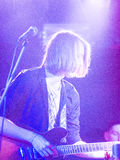 Nabaclab, Riga, Latvia, September 3, 2015, TRIS performing on st Royalty Free Stock Photography