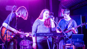 Nabaclab, Riga, Latvia, September 3, 2015, TRIS performing on st Royalty Free Stock Images