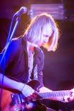 Nabaclab, Riga, Latvia, September 3, 2015, TRIS performing on st Royalty Free Stock Photo