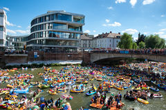 NABADA water carnival festival in Ulm, Germany Royalty Free Stock Photo