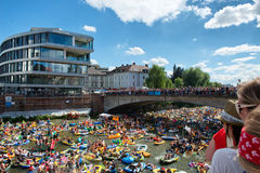NABADA water carnival festival in Ulm, Germany Royalty Free Stock Photography