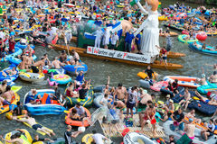 NABADA water carnival festival in Ulm, Germany Stock Images