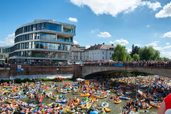 NABADA water carnival festival in Ulm, Germany Stock Photography