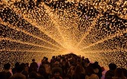 Nabana no Sato, light festival at Nagashima, Mie Prefecture. Japan stock photography