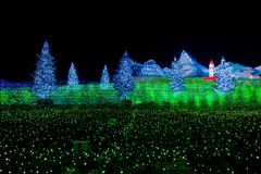 Nabana no sato winter illumination. In Mie ,Nagoya,Japan. It is one of Japan`s largest illumination parks Stock Photos