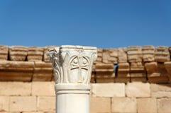 Nabataean市孟菲斯,以色列古老废墟  免版税库存图片