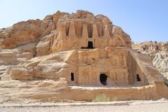 Nabataean Caves Stock Photos