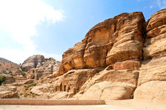 Nabataeans capital city (Al Khazneh).  Jordan. Royalty Free Stock Image