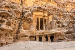 Triclinium at Little Petra, Jordan royalty free stock photos