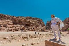 In Nabatean city of  Petra Jordan Royalty Free Stock Image