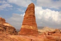 Nabatean obelisk in Petra, Jordan Royalty Free Stock Image