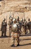 Nabatean soldater Arkivfoto